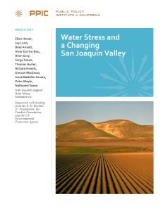 Water Stress and a Changing San Joaquin Valley