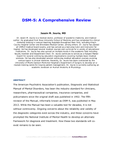 DSM-5: A Comprehensive Review