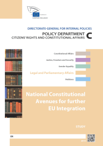 national constitutional avenues for further eu integration study