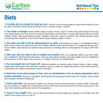 Diets - Carlton Nutrition Center