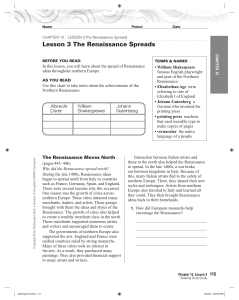 CHAPTER 13 LESSON 3 The Renaissance Spreads