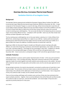 Cathodic Protection of Existing Outfalls Fact Sheet