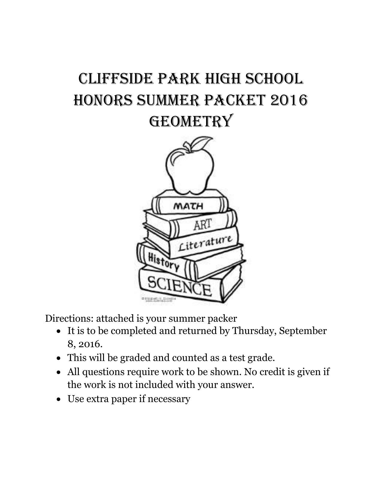 Geometry - Cliffside Park School District
