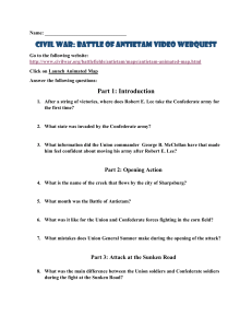 Civil War: Battle of Antietam Video Webquest