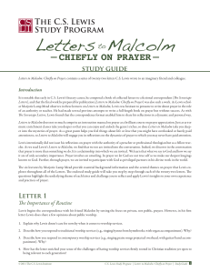 Letters to Malcolm Study Guide