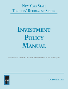 Investment Policy Manual