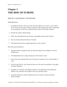 Chapter 1 THE RISE OF EUROPE - McGraw Hill Higher Education