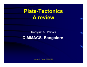 Plate-Tectonics A review