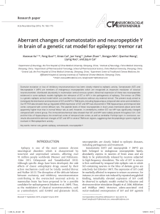 Aberrant changes of somatostatin and neuropeptide Y in brain of a