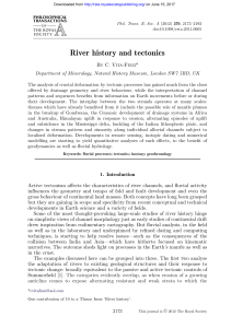 River history and tectonics