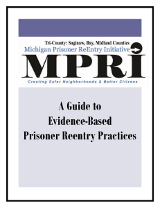 A Guide to Evidence-Based Prisoner Reentry Practices