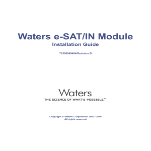 Waters e-Sat/IN Module Installation Guide