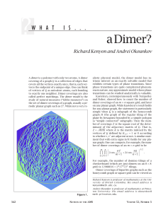 What Is...a Dimer?, Volume 52, Number 3