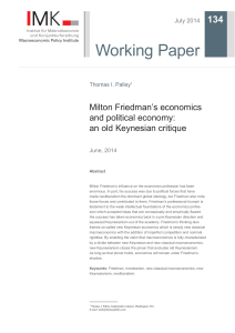 Milton Friedman`s economics and political - Hans-Böckler