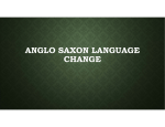 Anglo Saxon Language powerpoint