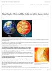 Planet Kepler-78b is just like Earth, but 2000 degrees hotter