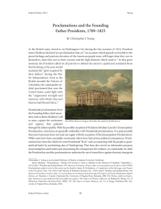 Proclamations and the Founding Father Presidents, 1789–1825