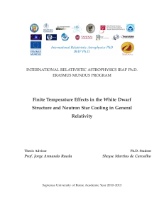 Finite Temperature Effects in the White Dwarf - Padis