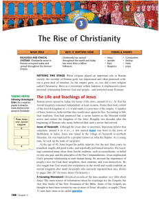 Text Pages 168-172 Rise of Christianity