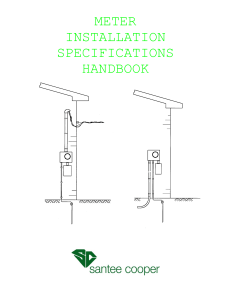 Meter Installation Specifications Handbook
