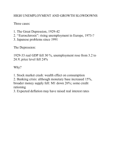 (missing) Chapter 20: Great Depression and European Unemployment