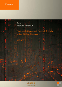 Financial Aspects of Recent Trends in the Global Economy