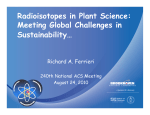 Radioisotopes in Plant Science: Meeting Global Challenges in