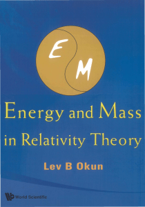 Energy and Mass in Relativity Theory (321 Pages)