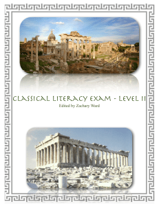 Classical Literacy Exam - Level II