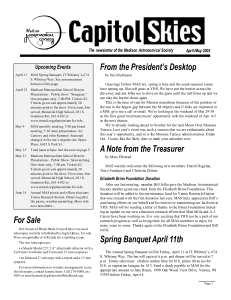 Apr/May 2003 - Madison Astronomical Society
