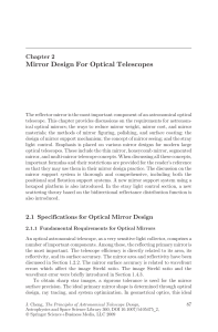 Mirror Design For Optical Telescopes