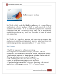 An Introductory Lecture MATLAB, which stands for