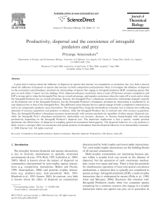 Productivity, dispersal and the coexistence of intraguild predators