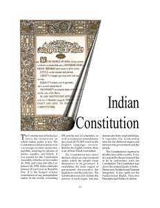 Indian Constitution - Secretariat Assistant