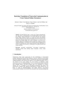 Real-time Translation of Nonverbal Communication in Cross