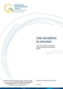 the sharing economy - Queensland Tourism Industry Council
