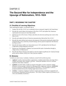 The Second War for Independence and the Upsurge