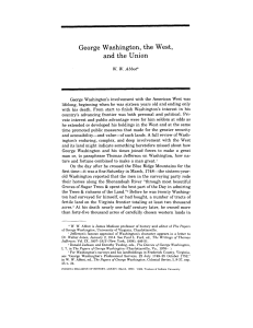 George Washington, the West, and the Union