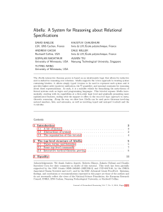 Abella: A System for Reasoning about Relational Specifications