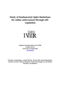 Study of fundamental rights limitations