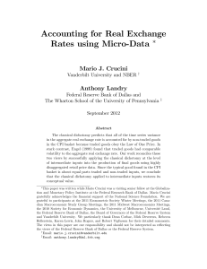 Accounting for Real Exchange Rates using Micro