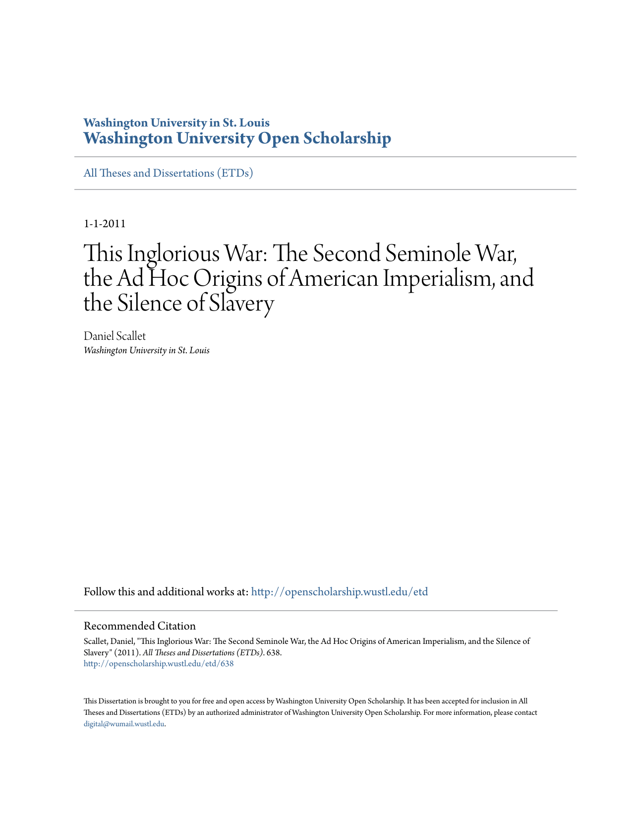 This Inglorious War - Washington University Open Scholarship 9e2bf6e93
