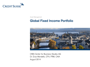 Global Fixed Income Portfolio