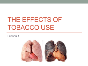 The Effects Of Tobacco Use