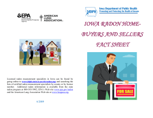iowa radon home- buyers and sellers fact sheet