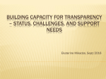 Building capacity for transparency