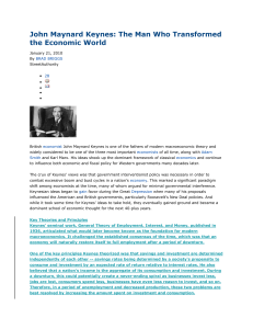 John Maynard Keynes: The Man Who Transformed the Economic