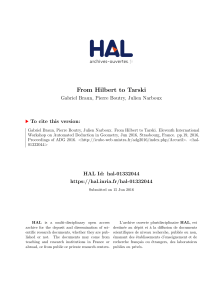 From Hilbert to Tarski - HAL