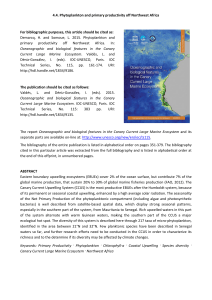 4.4. Phytoplankton and primary productivity off Northwest Africa The