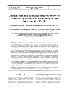 Differences in fish-assemblage structure between fished and